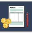 icon invoice design vector image