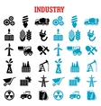 Industrial and energy flat icons set vector image