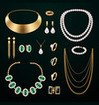 jewelry accessories set vector image vector image