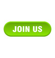 join us button us rounded green sign us vector image vector image