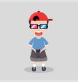 kid plays console video game vector image