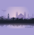 landscape turkish city istanbul vector image