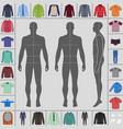 men clothing set vector image