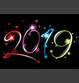new year 2019 grand event vector image