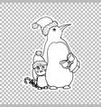 penguin family sticker ornate vector image vector image