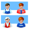 People Icons Boy and Teenage vector image vector image