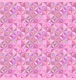 pink geometrical abstract striped shape pattern vector image vector image