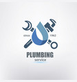 plumbing service logo template stylized symbol vector image vector image