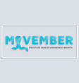 prostate cancer awareness month background vector image
