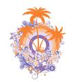 retro summer emblem vector image vector image