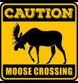 road sign - attention animal moose crossing