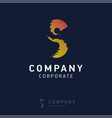 s company logo design with visiting card vector image vector image