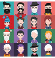 set of avatars a vector image vector image
