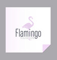 silhouette of a flamingo and the inscription vector image vector image