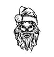 skull with long beard and use the vector image