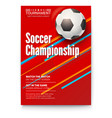 soccer ball on graphics background poster vector image vector image