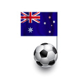 Soccer Balls or Footballs with flag of Australia vector image vector image