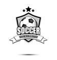 soccer logo design template vector image vector image