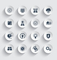 solar energy sun powered energetics icons set vector image