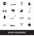 sport equipment eps10 vector image vector image