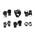 sport gloves icon set simple style vector image