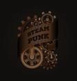 steampunk style emblem vector image