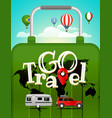 travel vacation travelling concept vector image vector image