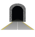 tunnel with road one vector image vector image