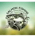 Vintage Salmon fishing emblems vector image vector image
