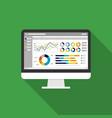 Web statistics analytic charts on computer screen