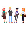 well-dressed employers in expensive suits business vector image vector image
