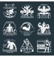 White Bodybuilding Emblem Set vector image