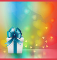 white gift box background vector image vector image