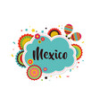 mexican fiesta background banner vector image