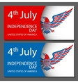4th of July Design Objects Element Set No vector image vector image
