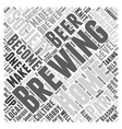 A Brewing Society Word Cloud Concept vector image vector image
