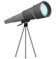 a telescope on wgite background vector image vector image
