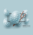 abstract easter blue background vector image vector image