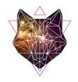 abstract polygonal tirangle animal fox vector image