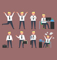 active businessman at work vector image vector image