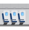 Aircraft interior with windows and seats vector image vector image