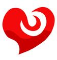 art heart draw vector image vector image