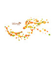autumn flying leaves vector image vector image