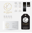 autumn logo identity label set lingerie vector image