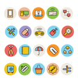 Basic Colored Icons 11 vector image