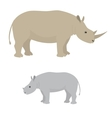 Big and little rhino vector image