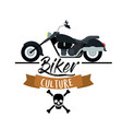 biker culture poster with classic vintage vector image vector image