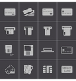 black credit cart icons set vector image