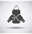 Boxing pear and gloves icon vector image vector image