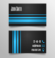 Business card template - modern blue and grey vector image vector image